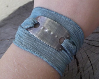 Silk Wrap Bracelet - Sterling Silver Bracelet