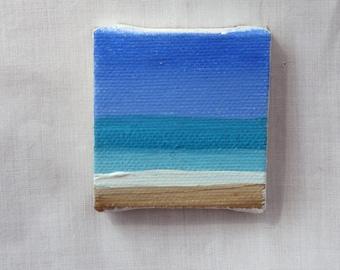 Minimalist Sorbist Beach 2x2 original acrylic painting