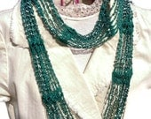 SLINKY Infinity Beaded Scarf Necklace Choker Crochet Pattern