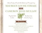 Rustic Tree Wedding Program