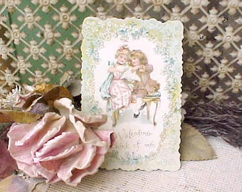 Lovely Edwardian Era Valentine in Soft Pastel