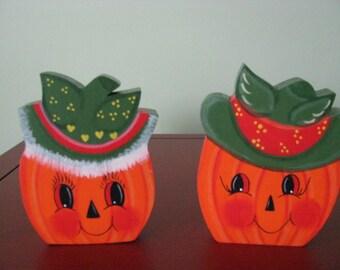 Pumpkin Couple, Halloween, Fall, Orange