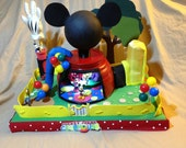 Mickey Mouse Minnie Mouse Goofy Donald Duck Pluto Centerpiece Mickey Mouse Clubhouse/Free Mickey Mouse Happy Birthday Banner With Purchase