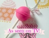Sweet Lollipop Necklace-Pink