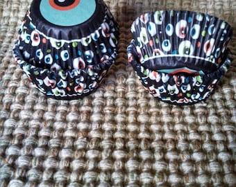 Halloween Eye Balls Mini  Baking Cups sets  of  # 50