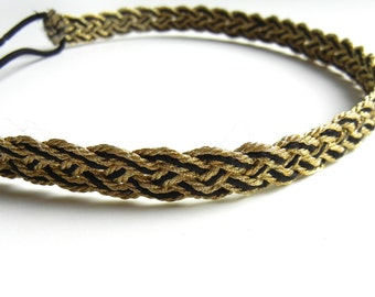 SALE // Gold and Black Braid Headband