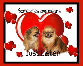 Sometimes Love - Valentines Card