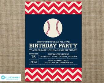 Boy baseball invite | Etsy