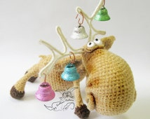 027 Moose toy with wire frame - Amigurumi Crochet Pattern -  PDF file Christmas pattern by Pertseva Etsy