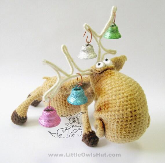 Amigurumi Wire : 027 Moose toy with wire frame Amigurumi Crochet Pattern