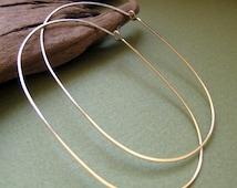 Gold Oval Hoop Earrings. Modern Large Hoops. / Fashion Earrings / Ellipse Hoop Earrings / Trendy Earrings /  Royal Ladies Jewelry / Modern