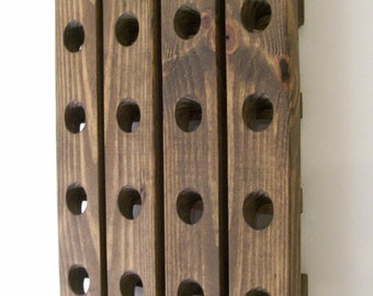 Traditional Wine Rack French Style Wall Hanging Riddling Rack