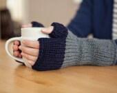Colorblock Mittens/Fingerless Mitts (knitting pattern)