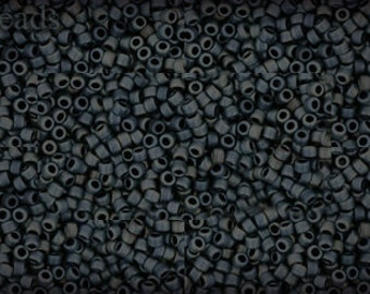 15/0 TOHO seed beads 10g Toho beads 15/0 seed beads Gun Metal 15-612 Gray Opaque Frosted Matte beads