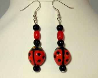 Adorable Red Ladybug Earrings Cute Earrings Handmade Earrings Gifts for Her Birthday Gifts Red Earrings Gift for Girlfriend Gift for Bestie