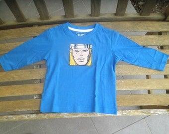 Long sleeve THOR applique shirt, size 1