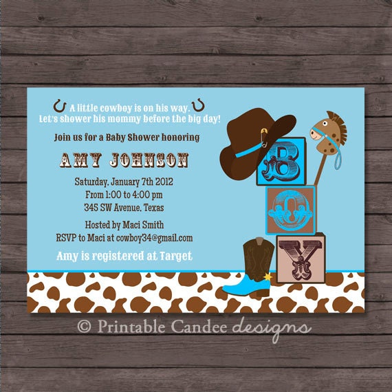 cowboy baby shower invitation cowboy baby shower western baby