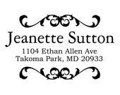personalized Return address stamp,SELF INKING custom address stamp,personalized stamp,S50