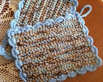 Crochet Large Pot Holders set of 2