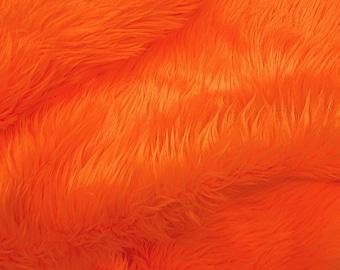 Half Yard Orange Shag
