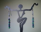 Lapis Lazuli and Malachite earrings