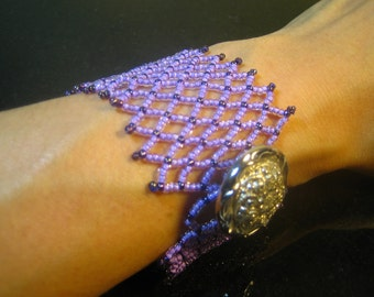 Lovely Purple Lattice Bracelet