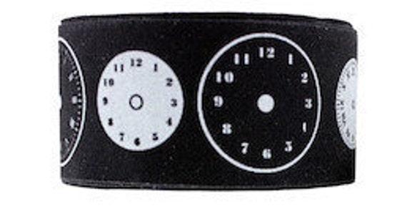 Ribbon Twill Washi Tape Self Adhesive Clock - One Roll
