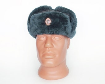 Vintage Winter Cap Hat Ushanka Small Size, Soviet Warm Hat for Boys