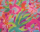 Lilly Pulitzer fabric  Multi Lulu 9 X 18 inches or 18 X 18 inches