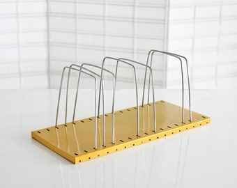 Wire Mail Organizer, Honey Yellow