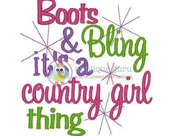 Boots and Bling  --  Machine Embroidery Design
