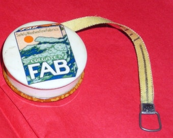Fab Soap Tape Measure.......Advertising Collectibles.... Vintage  Celluloid