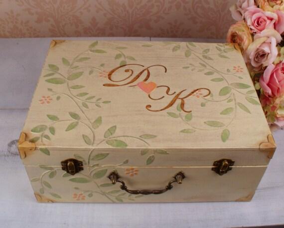 Wedding Card Box - Wedding Reception Card Memory Box Personalized, LHB