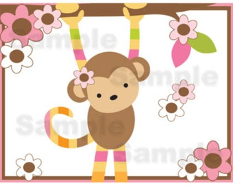 Popular items for girl monkey nursery on Etsy