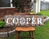 Weathered Ways Rustic Random Name Sign Example Pics This Listing is NOT FOR SALE