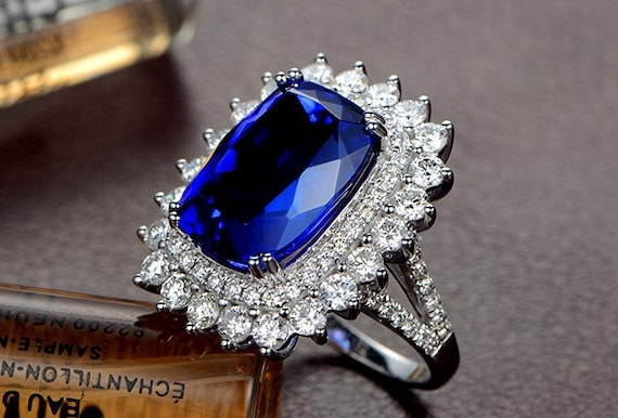Engagement Ring 7 Carat Tanzanite Engagement by stevejewelry