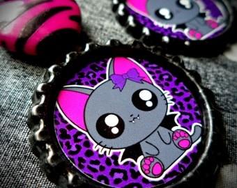 Vampire Kitty earrings