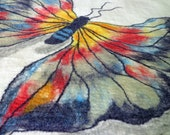Custom Butterfly  Felted  wall hanging