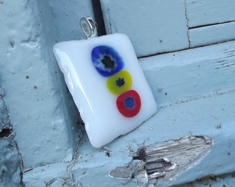 Fused Glass Square Pendant