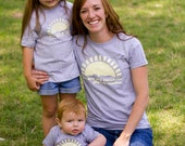 Mommy and Me Tshirt set - You are my Sunshine (Yellow imprint on both)