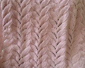 Knit Baby Girl Blanket,Baby Girl Gift,Knitted Baby Blanket,Free Shipping