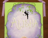 Handpainted Tinkerbell Customized Name Banner
