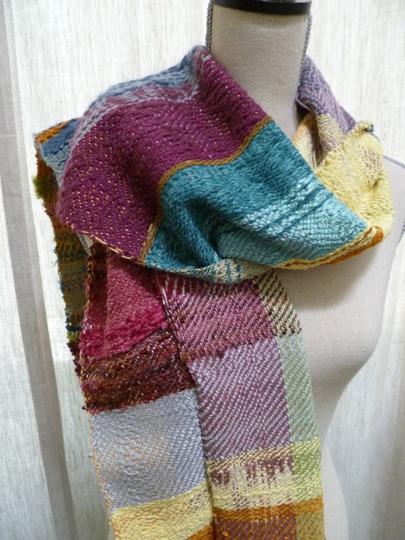 ON SALE Large Multi Color Handwoven Scarf