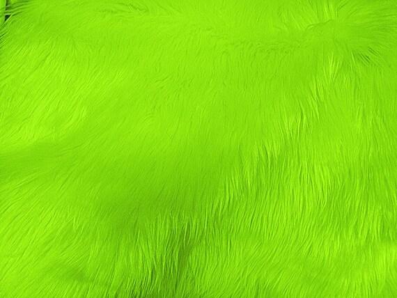Faux/Fake Fur Luxury Shag Lime 58 Inch Fabric by the Yard - 1 Yard