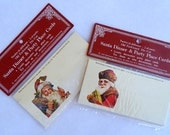 Vintage Santa Claus Die Cut Place Cards