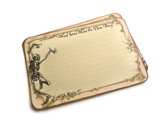skeleton recipe cards funny halloween recipe cards spell