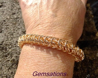 Rose Bronze box Chainmaille bracelet, Chainmaille, bronze jewellery, bronze bracelet, gift for her, box chain bracelet, Chainmaille bracelet