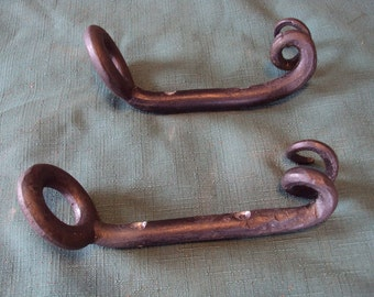Hand Forged Recycled Sliding Door Handles- set of 2 for indoor or outdoor use
