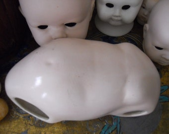 Huge Antique Ceramic Painted Baby Doll Torso | Body
