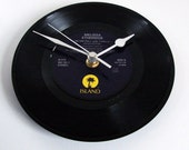 """Melissa Etheridge CLOCK made from a recycled vinyl 7"""" record. For fans country music men women ooak listing"""